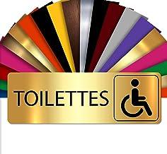Toiletten | deurbordje | naambordje met reliëf PVC zelfklevend 5x15cm | 18 kleuren selecteerbaar Briljant goud