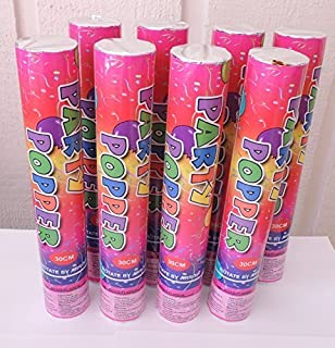 8 Large (12 Inch) Compressed Air Activated Confetti Party Dispensers- 8 pieces