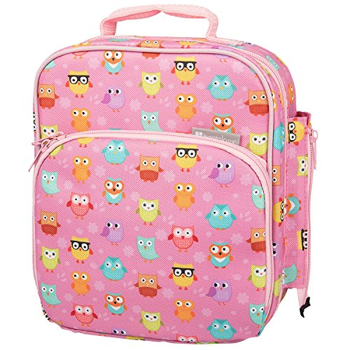 Bentology Lunch Box for Kids - Girls and Boys Insulated Lunchbox Bag Tote - Fits Bento Boxes - Owl