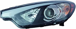 Fits KIA Forte Sedan 14-16 Headlight Assembly Halogen W/O LED Position Lamp Driver Side (DOT Certified)