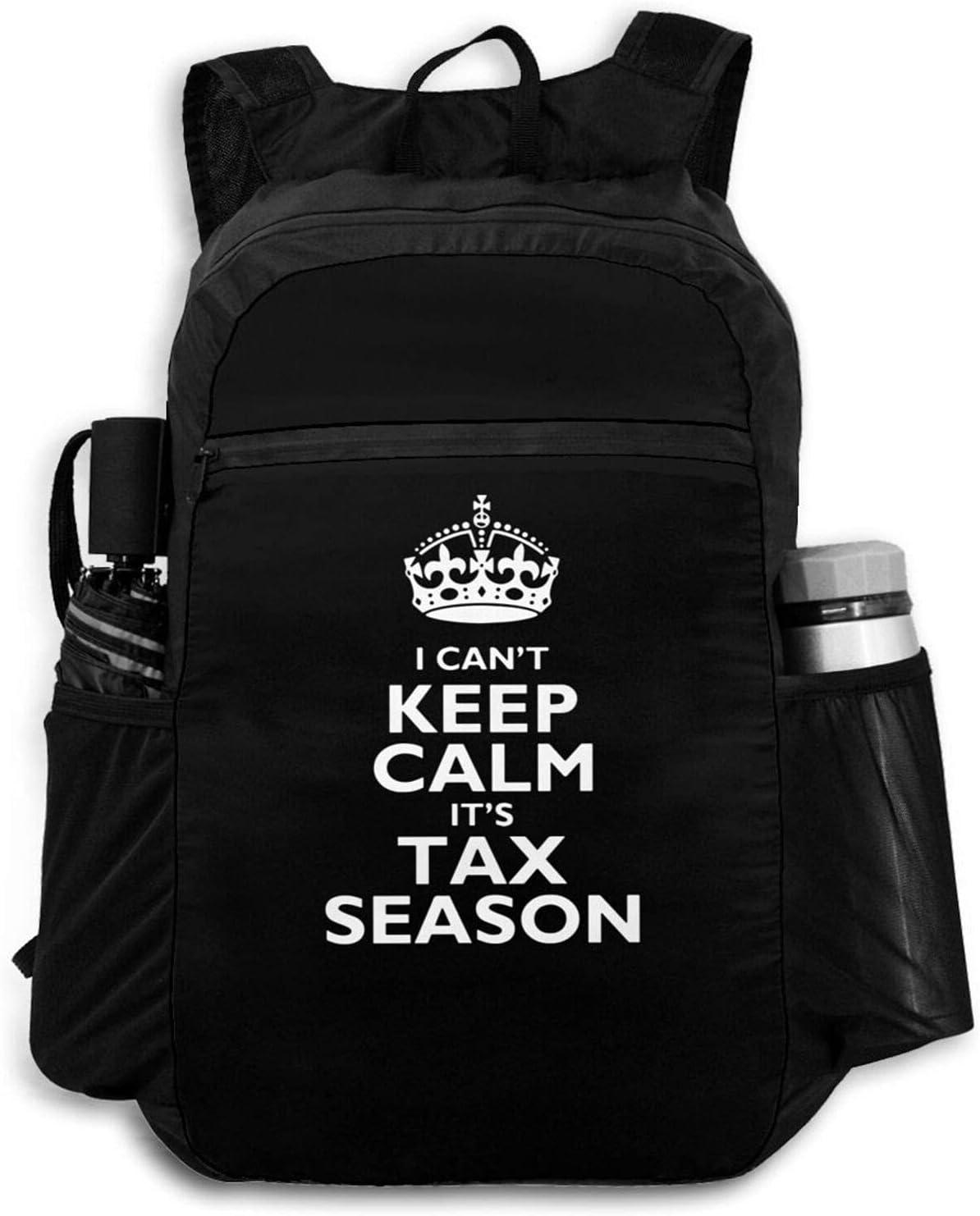 Zolama Can't Keep Calm Tax Season Women Men High quality new P Cute for Backpacks 5 ☆ popular