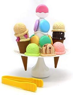 Toyzabo Toy Ice Cream Stand Pretend Ice Cream Toy Ice Cream Set Ice Cream for Kids Kids Ice Cream Toy Stand Ice Cream Cart...