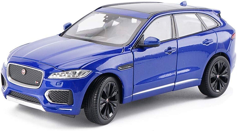 popular KaKaDz Wei KKD KKD KKD Escala Modelo Simulación Vehículo Simulación Azul Jaguar F-Pace SUV 1 24 Aleación de simulación Modelo de Coche Modelo de Juguete Modelo estático Decoración de la Serie Regalo  a la venta