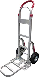 Tyke Supply Aluminum Stair Climber Hand Truck with Foldable Extension Nose Air Tires (Solid Tire)