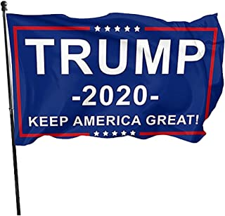 Breeze Banner Trump 2020 Keep America Great Flag - Flying with The Wind - Vivid Color and UV Fade Resistant - with Brass Grommets
