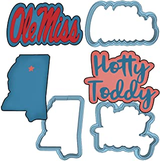 Ole Miss Cookie Cutter Set - American Confections - Hotty Toddy, Mississippi, Football