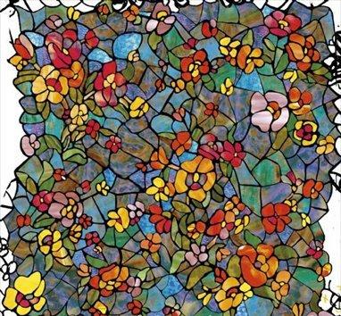 d-c-fix Klebefolie Sichtschutz Venetian Garden Blumen Dekor 90 breit Meterware