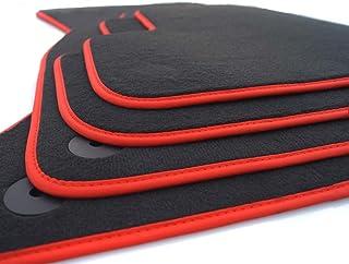 kh Teile Tapis de Sol E90/E91/Tapis de Voiture en Velours Original qualit/é Premium Double Coutures M-Edition Noir Rouge//Bleu