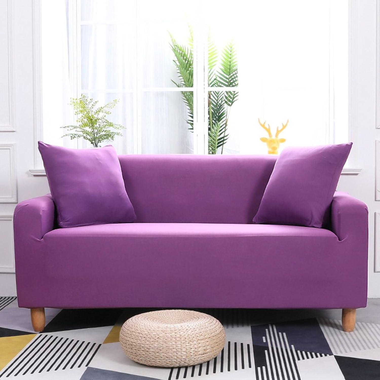 JiaQi Four seasons Slipcover sofa,Antislip Foams couch,Antimite Pet dog cat predector Dust cover Elastic Sofa couchpurple 4 Seater