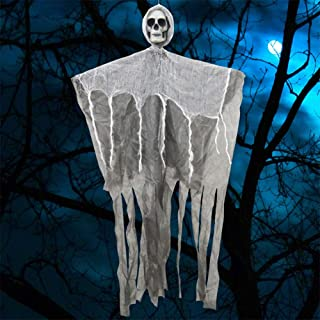 IMOSA Halloween Hanging Ghost Decoration, Halloween Skeleton Ghosts, Halloween Ghost Hanging Decorations Scary Creepy Indo...