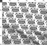 Schreibmaschine, Schwarz Und Weiß, Quilten, Schlüssel,