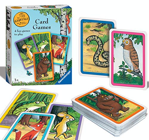 Ravensburger 20561 - Grüffalo-Kartenspiel für Kinder ab 3 Jahren - Spielen Sie 4 spannende Favoriten Snap, Happy Families, Tauschen oder Paare