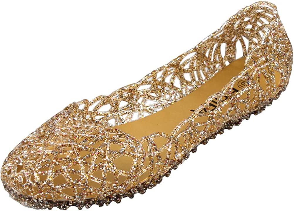 PhiFA Womens Jelly OFFicial Shoes New popularity Flats Ballet