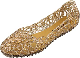 Womens Jelly Ballet Flats Shoes