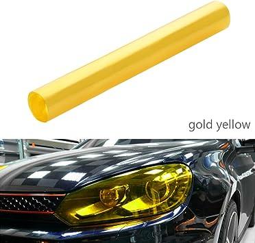 Scheinwerfer Folie Auto Tönungsfolie Aufkleber 30 120cm Wasserdicht Nebelscheinwerfer Rückleuchten Blinker Gold Auto