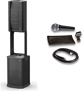 Bose F1 Model 812 Flexible Array System Loudspeaker and Subwoofer Bundle with Shure Microphone, 15ft Cable and Accessories (6 Items)