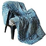 Weiche Patchwork Decke Quilt Tagesdecke Baumwolle Indigo - 127x152cm Dekorativ Indisch Plaid Vintage Reversibel Bettüberwurf Für Sofa & Couch Steppdecke