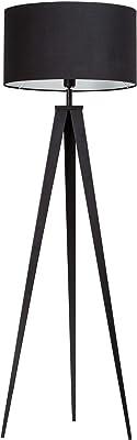 Kiom lampada da terra Kuno treppiede in metallo nero 153cm 10840