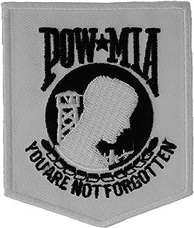 Reflective POW MIA 2.5 x 3 iron on patch D18 2656