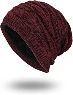 KingBra Slouch Beanie Hat,Fleece Lined Winter Warm Knit Cap for Women and Men