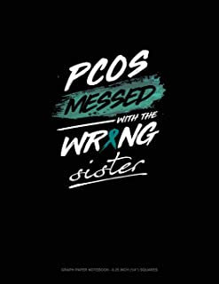 Pcos Messed with the Wrong Sister: Graph Paper Notebook - 0.25 Inch (1/4) Squares
