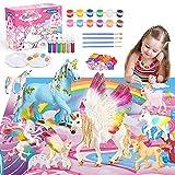 Toy zee Manualidades Niños 3 4 5 6 7 8 Años, Regalos Niños 3-10 Años Unicornios para NiñasJuguetes Figuras para Pintar Niños 3-10 AñosRegalos Cumpleaños Niños 3-10 Años Kit Manualidades