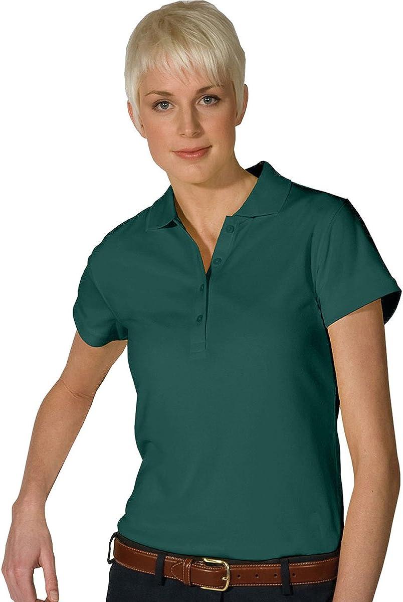 Ed Garments Women's Dry-Mesh Hi-Performance Polo Shirt, HUNTER, X-Small