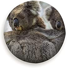 Spare Tire Cover Koala Mother Baby Joey On Back Animals Wildlife Nature Polyester Water Proof Dust-Proof Universal Spare Wheel Tire Cover Fit For Jeep,Trailer, Rv, Suv And Many Vehicle (14,15,16,17 In