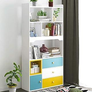 YaGFeng Estantería El Estante De Exhibición De Almacenamiento En Estantes De Madera Sala De Estanterías Unidad Simple Montaje De Muebles De Oficina para el hogar Oficina Librero