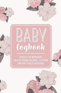 Baby Logbook: Pink Floral Tracker for Newborns, Breastfeeding Journal, Sleeping and Baby Health Notebook