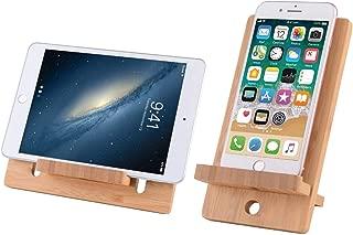 Adjustable Bamboo Cell Phone Tablet Stand Holder for Desktop