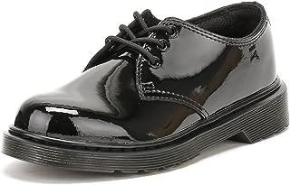 Dr.Martens Everley 3-Eyelet Leather Kids Shoes 12 US Black
