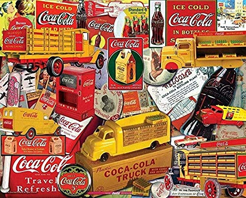 Puzzle para Adultos Puzzle De Madera De 1000 Piezas   Coca Cola Corte Único Piezas Entrelazadas Descompresión Juegos Educativos Juguetes,Jigsaw Puzzle