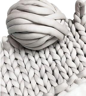 (20m, Grey) - Super Chunky Vegan Yarn, Acrylic Bulky Thick Roving Washable Softee Chunky Yarn For Arm Knitting DIY Handmad...