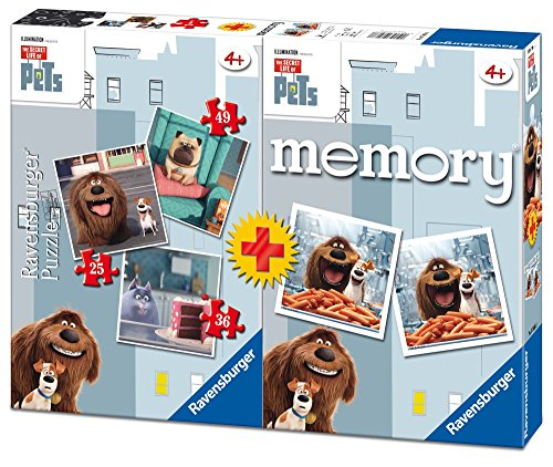 Secret Life of Pets – Multipack Memory + 3 Puzzle (Ravensburger 06872) – Farbe/Modell Sortiert