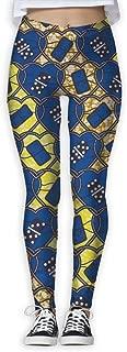 XMKWI Heart Lock Pattern Women Power Flex Gym Yoga Pants Workout Tights Leggings Trouser