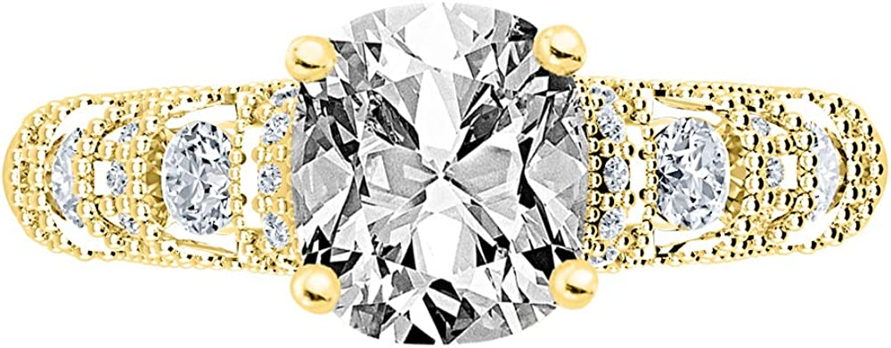 2.75 Ctw 14K White Same day shipping Gold Double Halo Row Cushion Cheap mail order specialty store GIA Big Cer