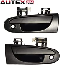 AUTEX 2pcs Exterior Door Handle Set Front Left Right Side Compatible with Chrysler Sebring Coupe,Dodge Avenger 95-00 Replacement for Mitsubishi Eclipse,Eagle Talon 95-98 Door Handle 77493 77494