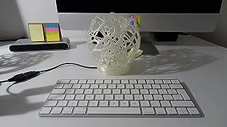 Lampada di design, lampada da tavolo, lampada da comodino, lampada scrivania, lampada moderna, lampada led USB bianca a fo...