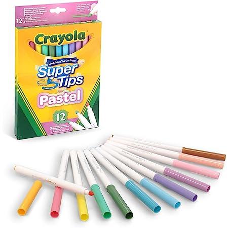 Rotuladores Súper Punta Lavables Colores Pastel 12 ud. 20,5x13x1,3cm