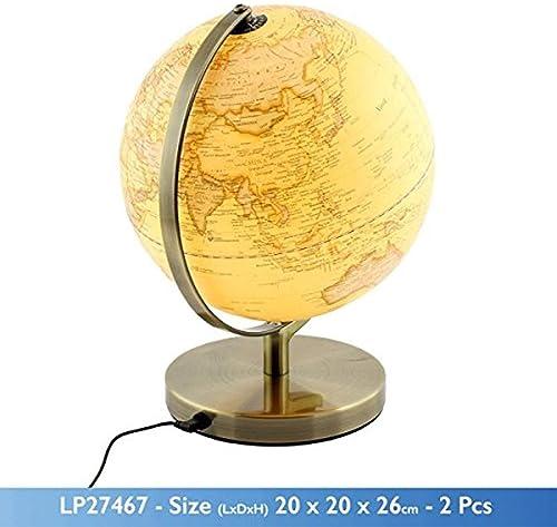 Felices compras Globo de escritorio HJCA HJCA HJCA Earth Instrument - Base de metal de mapa del mundo de estilo retro con luces nocturnas Adecuado para el escritorio Estanterías de escritorio Decoraciones para muebles para el  venta con alto descuento