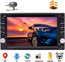 EINCAR Navigation Car DVD Player Double DIN Car Stereo in Dash Bluetooth Head Unit with Capacitive Touchscreen FM Auto Radio GPS in 2DIN Car Audio Video MP3 USB Sd Map+Reverse Camera