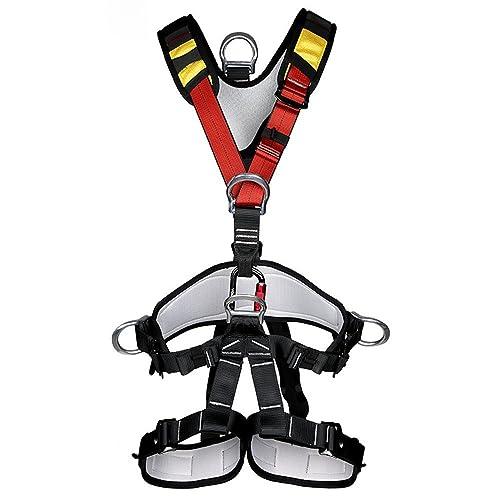 Suntime Arnés de Seguridad de Escalada para Hombre Mujer Alpinismo Cuerda Equipo Escalada Ajustable Al Aire