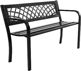Amazon Com Metal Benches Patio Seating Patio Lawn Garden