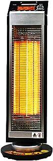 Radiador eléctrico MAHZONG Calentador de Ventilador de Torre giratoria - Eléctrico 800W - PTC de cerámica - 5 Configuraciones de Calor, Diseño portátil - Negro