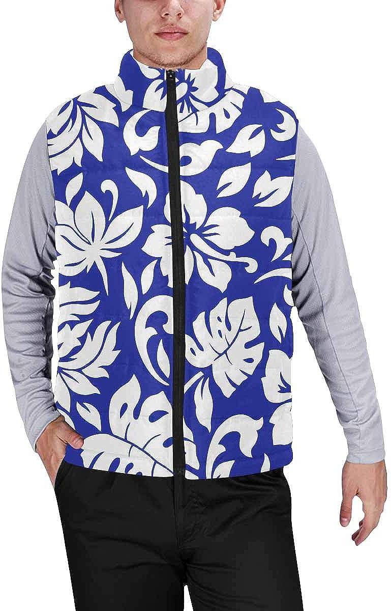 InterestPrint Men's Lightweight Sleeveless Jacket for Travel Hiking Running Helm and Anchor