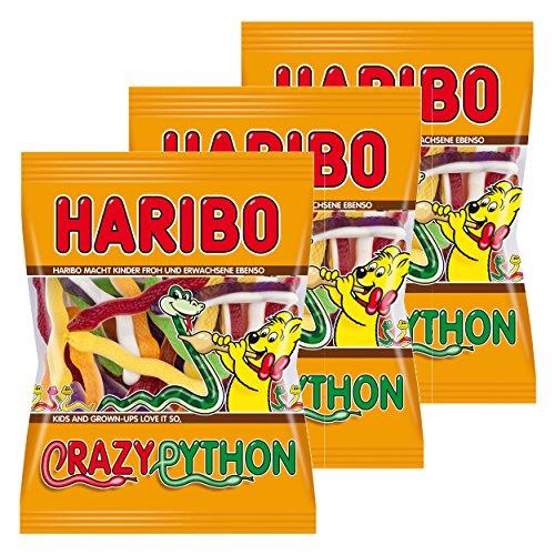 Haribo Crazy Python, Fruchtgummi, Bären, die Obst, 3Taschen-175g
