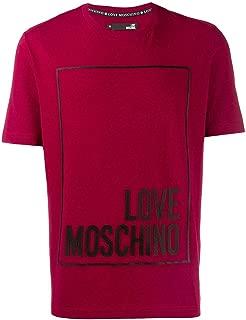 Moschino Luxury Fashion   Love Mens M47323YE1811P32 Red T-Shirt   Fall Winter 19