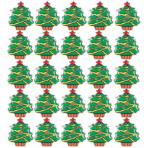 Broche de Navidad - 25 piezas Exquisito broche Pin Insignia Tema navideño LED Fiesta luminosa DIY Decoración Regalo para amigo(Árbol de Navidad)