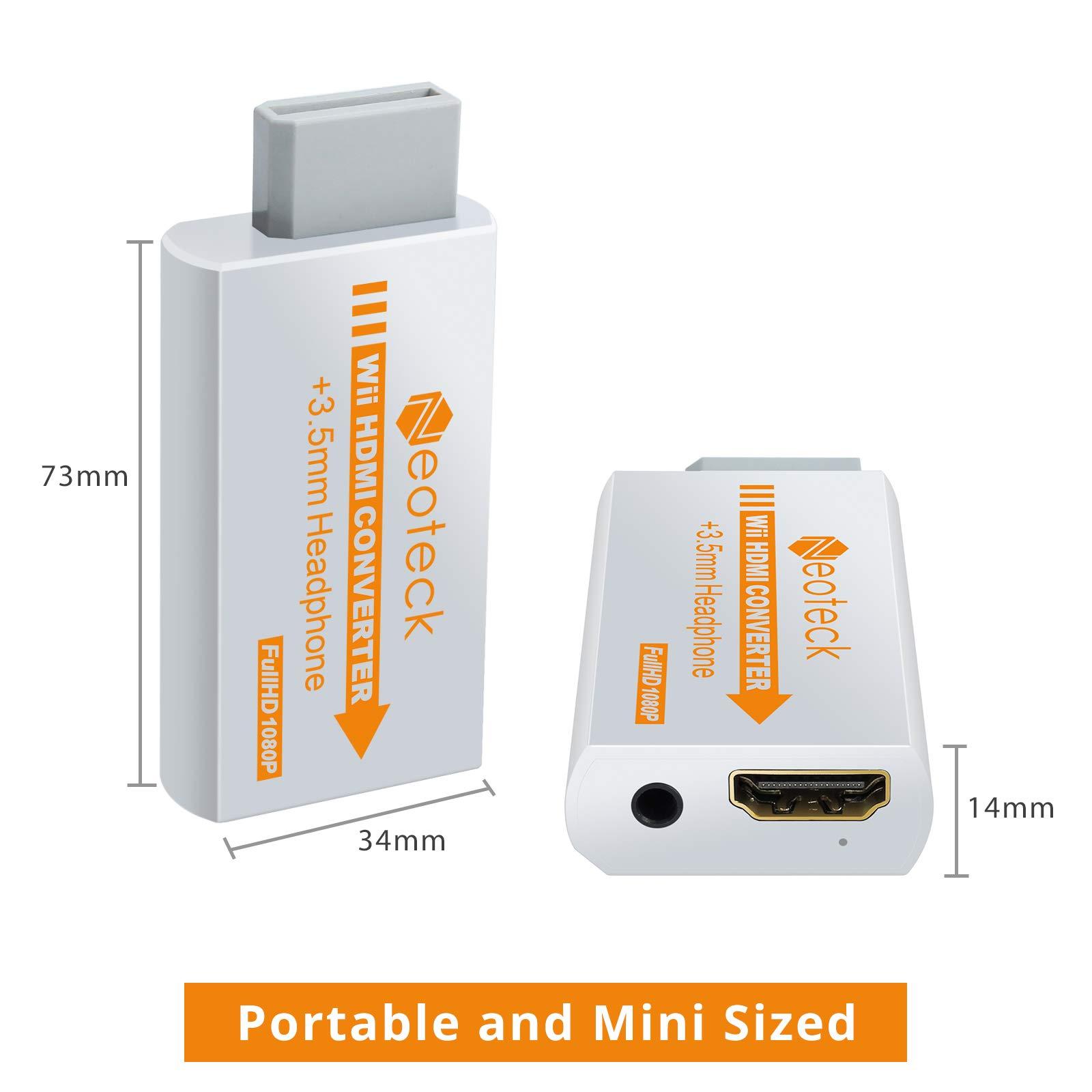 Neoteck Wii a HDMI Convetidor 720p/1080p Wii a HDMI Adaptador Full ...